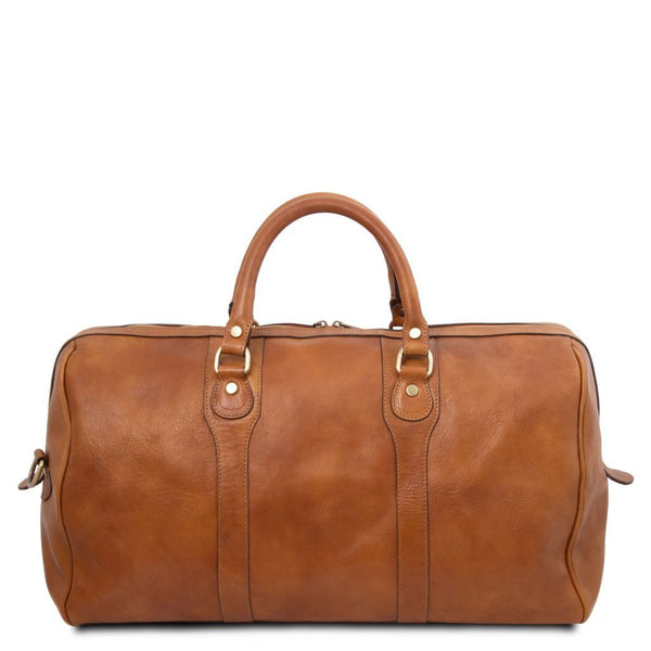 Oslo - Travel leather duffle bag - Weekender bag TL141913 Luggage Tuscany Leather