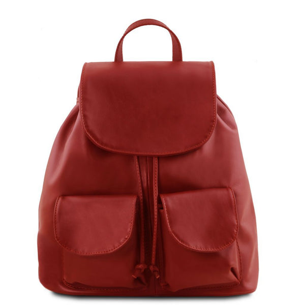 Seoul - Leather backpack Large size TL141507 Tuscany Leather - getanybag.com