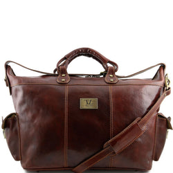 Porto - Travel leather weekender bag TL140938 Luggage Tuscany Leather