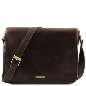 Messenger double - Freestyle leather bag TL90475 Men Bags Tuscany Leather