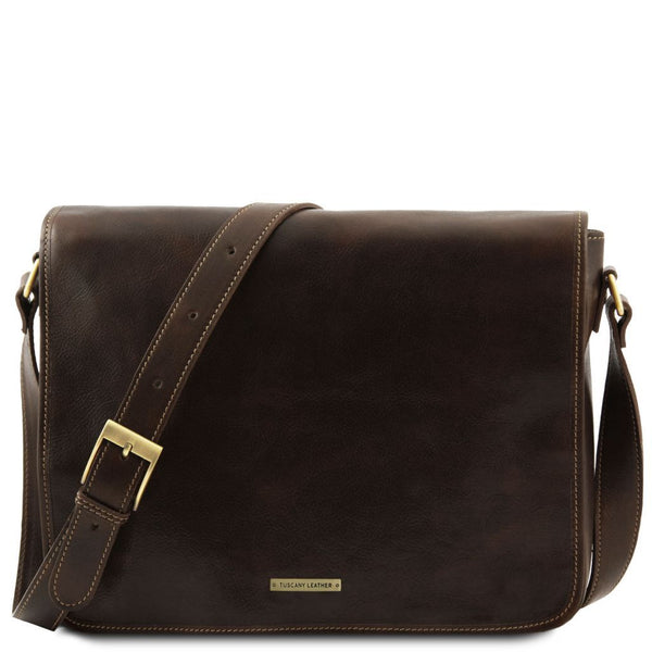 Messenger double - Freestyle leather bag TL90475 Tuscany Leather - getanybag.com