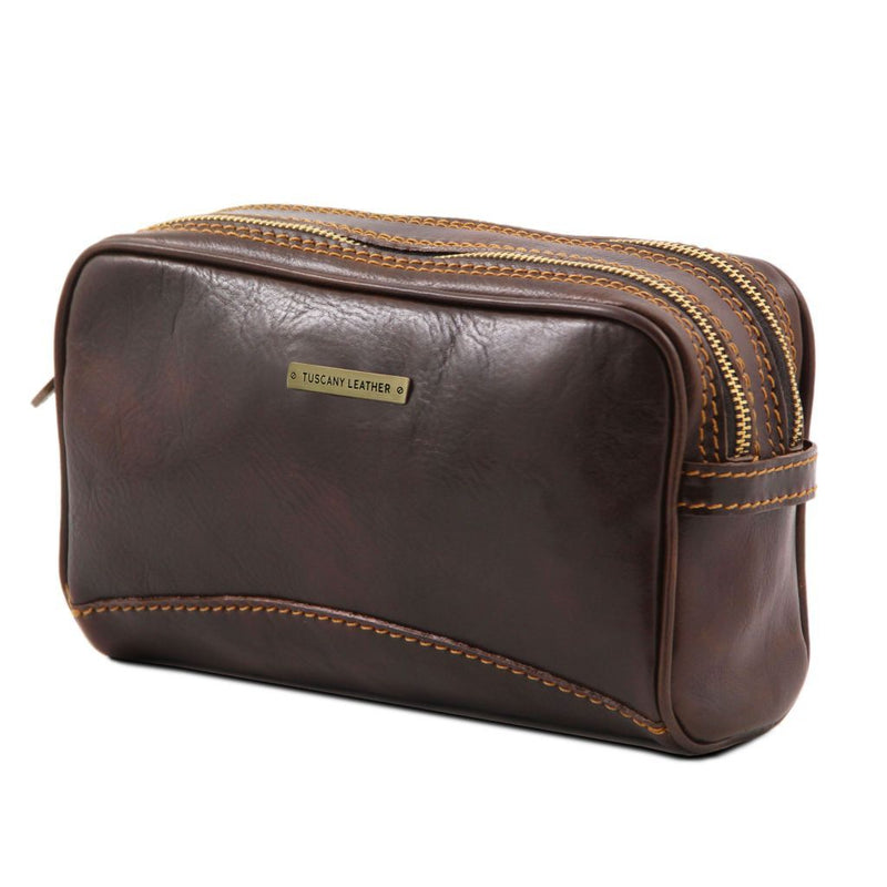 Igor - Leather toilet bag TL140850 Luggage Tuscany Leather