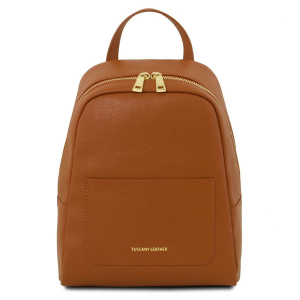 TL Bag - Small Saffiano leather backpack for women TL141701 - getanybag.com