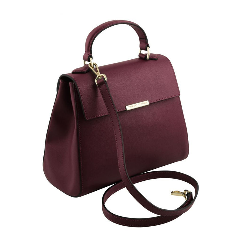 TL Bag - Small Saffiano leather duffel bag TL141628 Women Bags Tuscany Leather