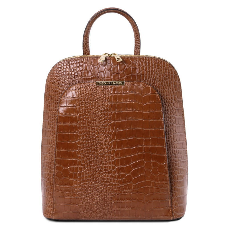 TL Bag - Croc print leather backpack for women TL141918 Women Bags Tuscany Leather
