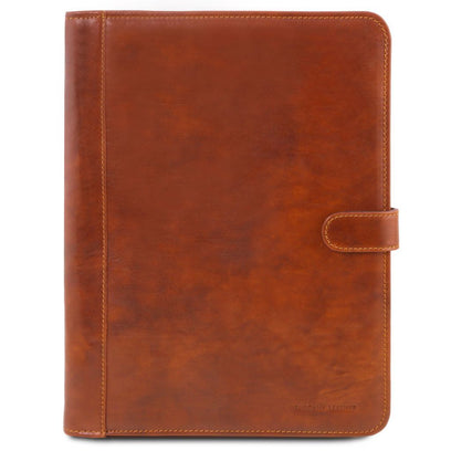 Adriano - Leather document case with button closure TL141275 Tuscany Leather - getanybag.com