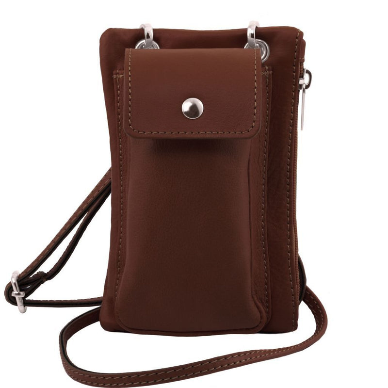TL Bag - Soft Leather cellphone holder mini cross bag TL141423 Women Bags Tuscany Leather