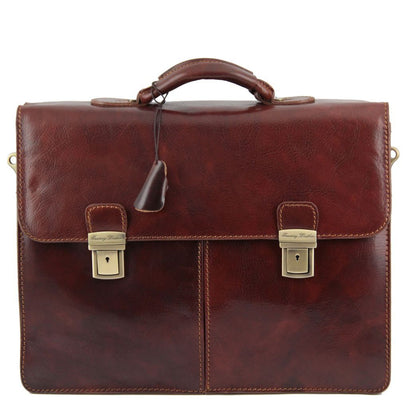 Bolgheri - Leather briefcase 2 compartments TL141144 Tuscany Leather - getanybag.com
