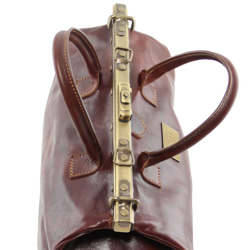 Barcellona - Double-bottom Gladstone Leather Bag TL141185 Luggage Tuscany Leather