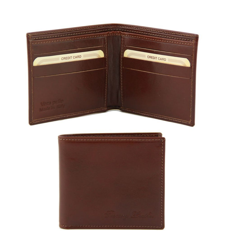 Exclusive 2 fold leather wallet for men TL140797 Men Bags Tuscany Leather