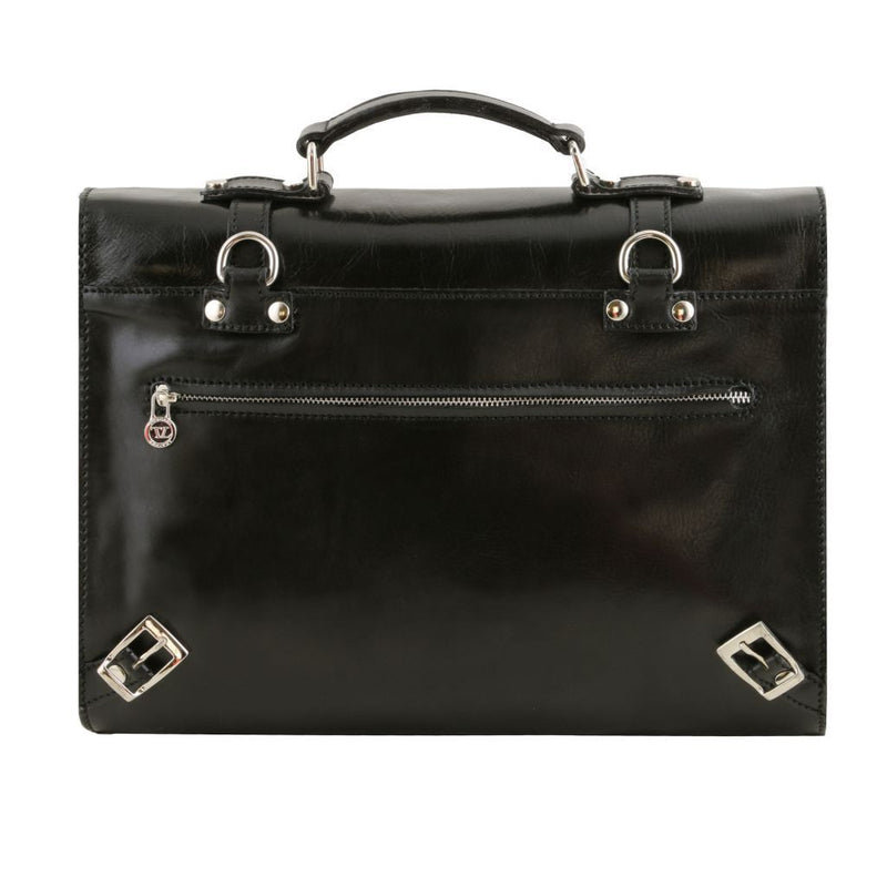 Viareggio - Exclusive leather laptop case with 3 compartments TL141558 Business Tuscany Leather