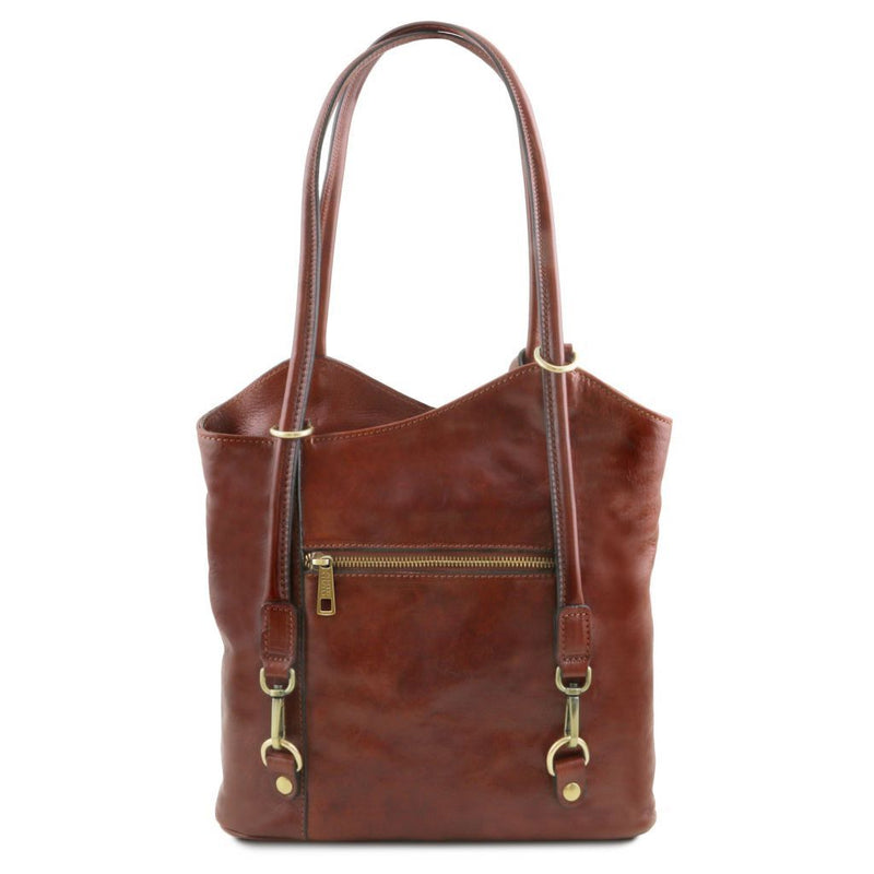 Patty - Leather convertible bag TL141497 Women Bags Tuscany Leather