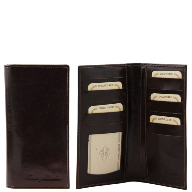 Exclusive leather 2 fold vertical wallet TL140784 Tuscany Leather - getanybag.com