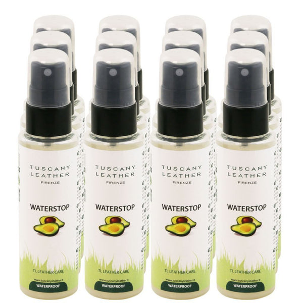 WATERSTOP Leather waterproofing spray x 12 TL141309 Leather Care Tuscany Leather
