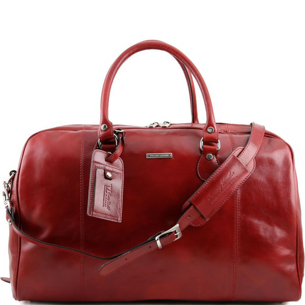 TL Voyager - Travel leather duffle bag TL141218 Tuscany Leather - getanybag.com
