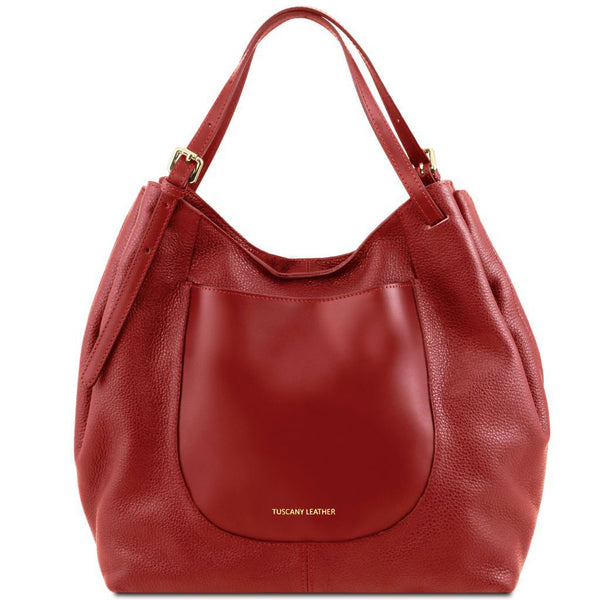 Cinzia - Soft leather shopping bag TL141515 Women Bags Tuscany Leather