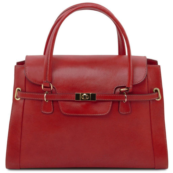 TL NeoClassic - Lady leather handbag with twist lock TL141230 Women Bags Tuscany Leather