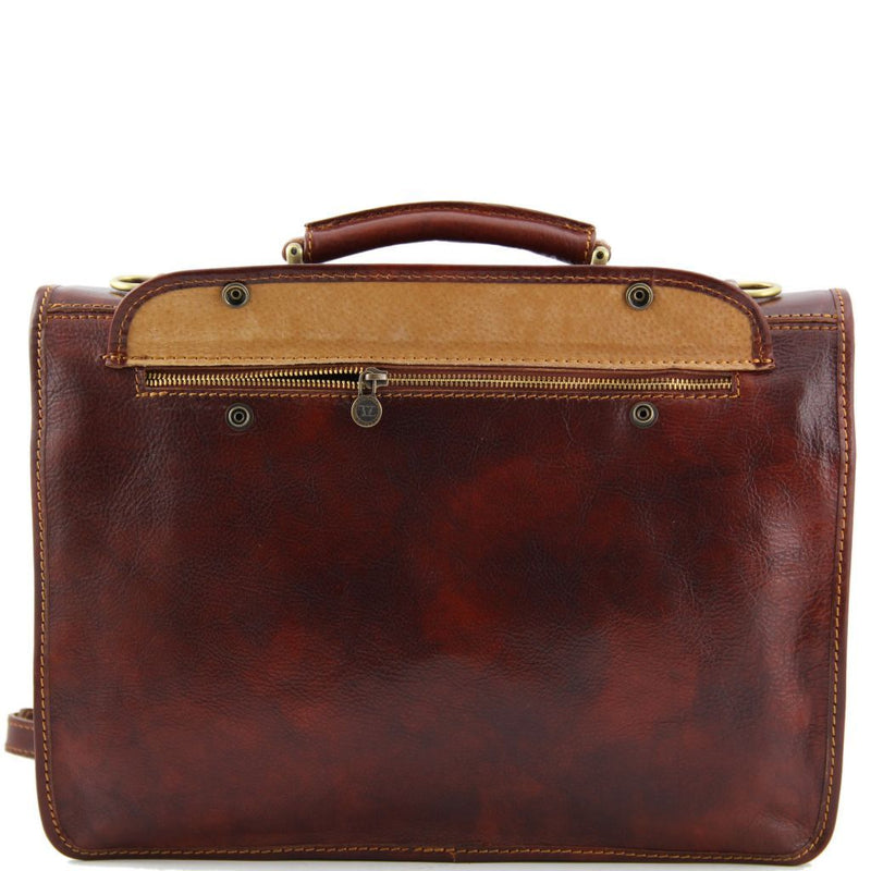 Siena - Leather messenger bag 2 compartments TL10054 Business Tuscany Leather