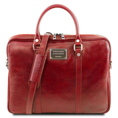 Prato - Exclusive leather laptop case TL141283 Tuscany Leather - getanybag.com