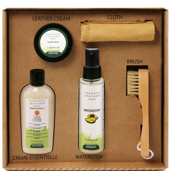 Leather care products complete set TL141388 Tuscany Leather - getanybag.com