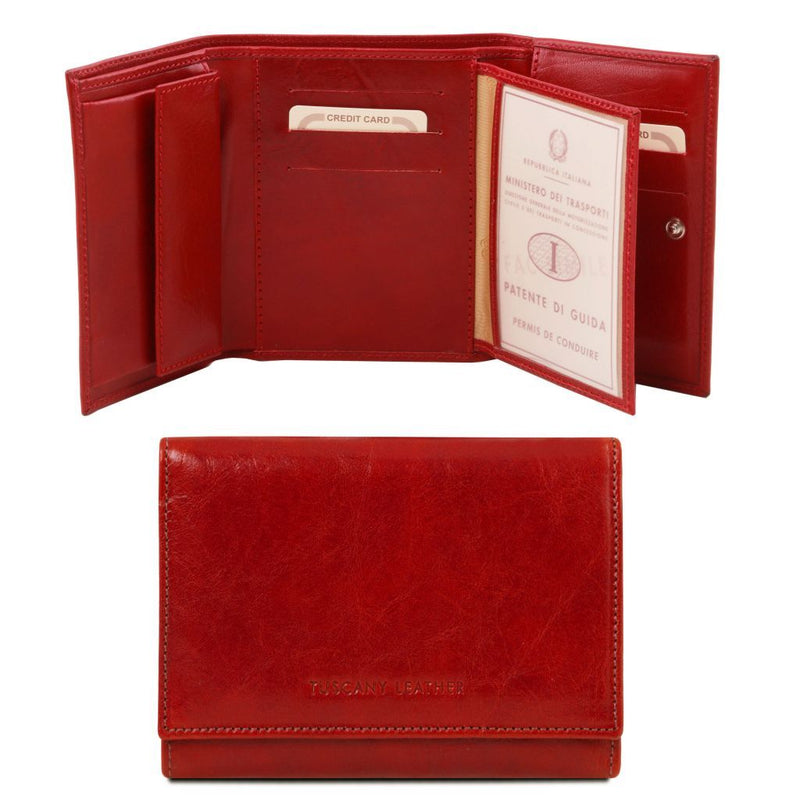 Exclusive leather wallet for women TL140790 Women Bags Tuscany Leather