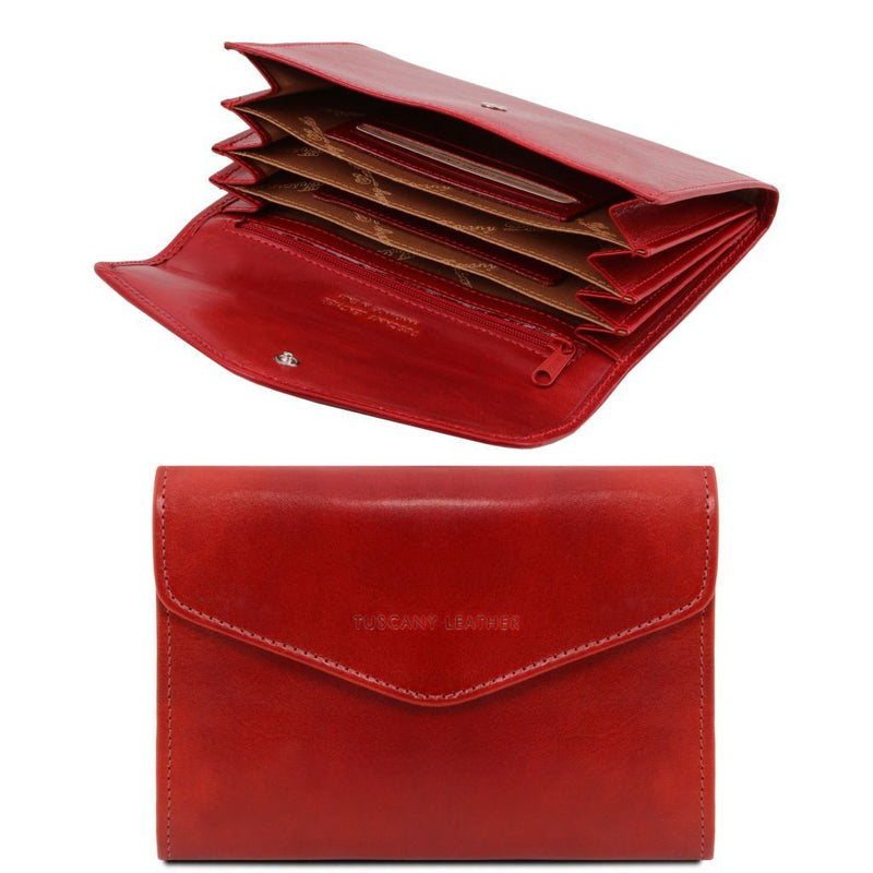 Exclusive leather accordion wallet for women TL140786 Women Bags Tuscany Leather