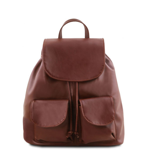 Seoul - Leather backpack Small size TL141508 Tuscany Leather - getanybag.com