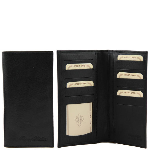 Exclusive leather 2 fold vertical wallet TL140784 Men Bags Tuscany Leather