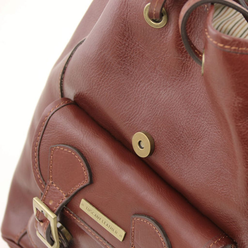 Kobe - Leather Backpack TL141342 Women Bags Tuscany Leather