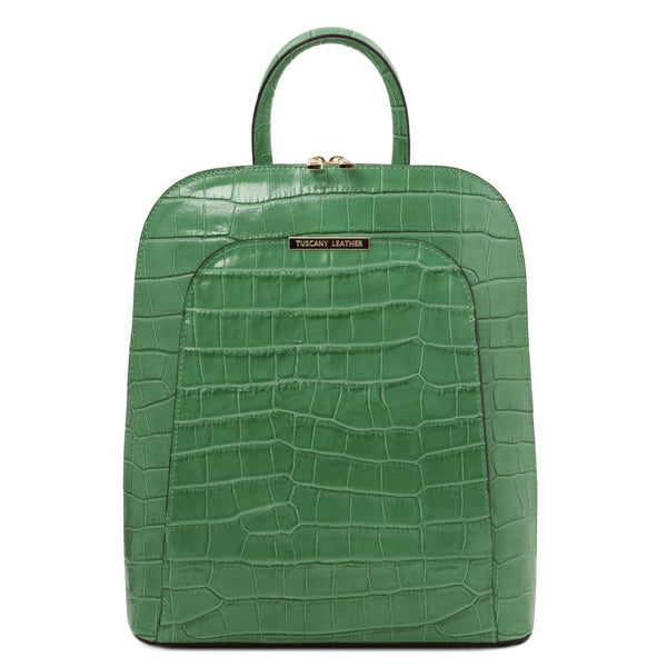 TL Bag - Croc print leather backpack for women TL141969 - getanybag.com