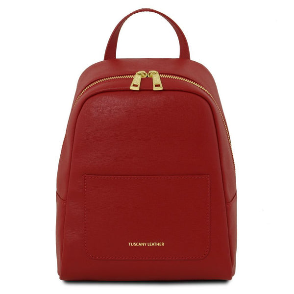 TL Bag - Small Saffiano leather backpack for women TL141701 Women Bags Tuscany Leather