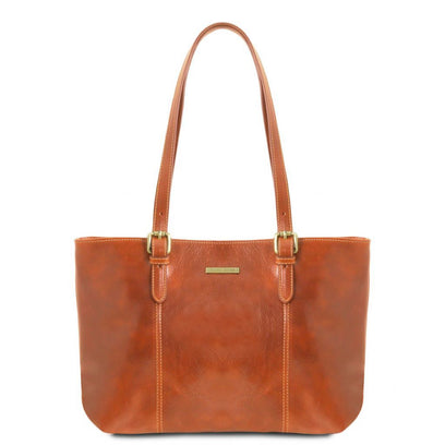Annalisa - Leather shopping bag with two handles TL141710 Tuscany Leather - getanybag.com