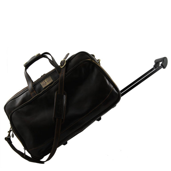 Bora Bora - Trolley leather bag - Small size TL3065 Luggage Tuscany Leather