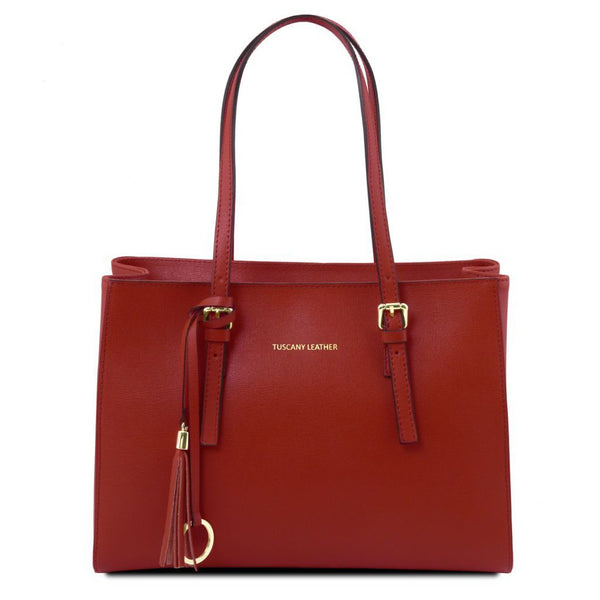 TL Bag - Saffiano leather handbag TL141518 Tuscany Leather - getanybag.com