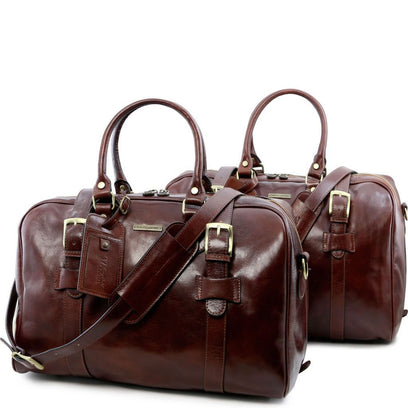 Vespucci - Leather travel set TL141257 Tuscany Leather - getanybag.com