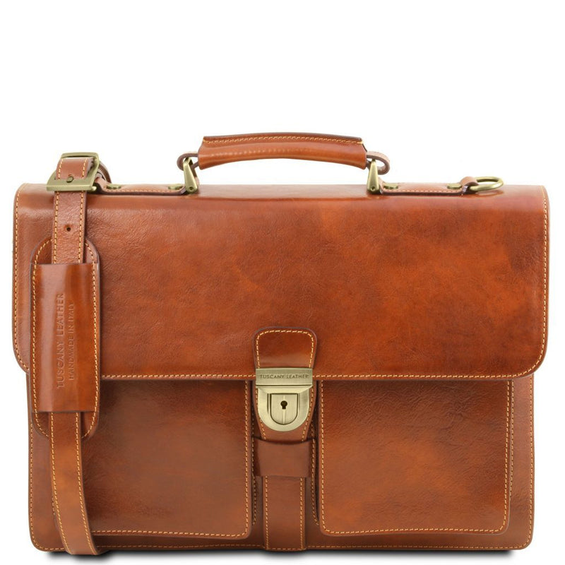Assisi - Leather briefcase 3 compartments TL141825 Business Tuscany Leather
