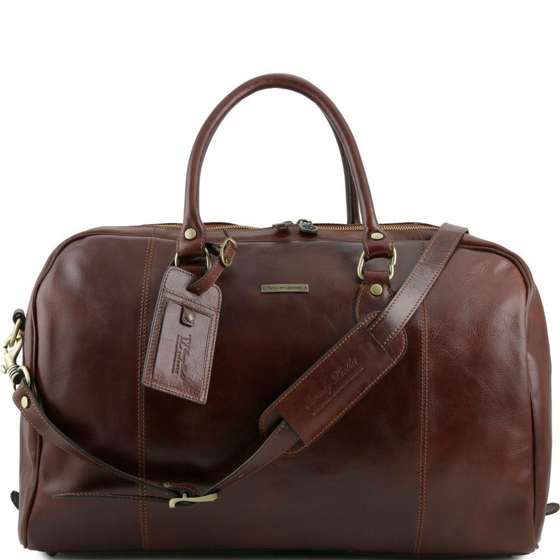 TL Voyager - Travel leather duffle bag TL141218 Luggage Tuscany Leather