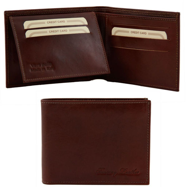 Exclusive leather 3 fold wallet for men TL140760 Men Bags Tuscany Leather