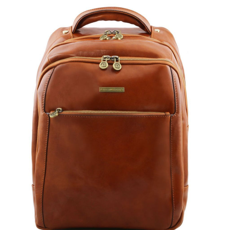 Phuket - 3 Compartments leather laptop backpack TL141402 Women Bags Tuscany Leather