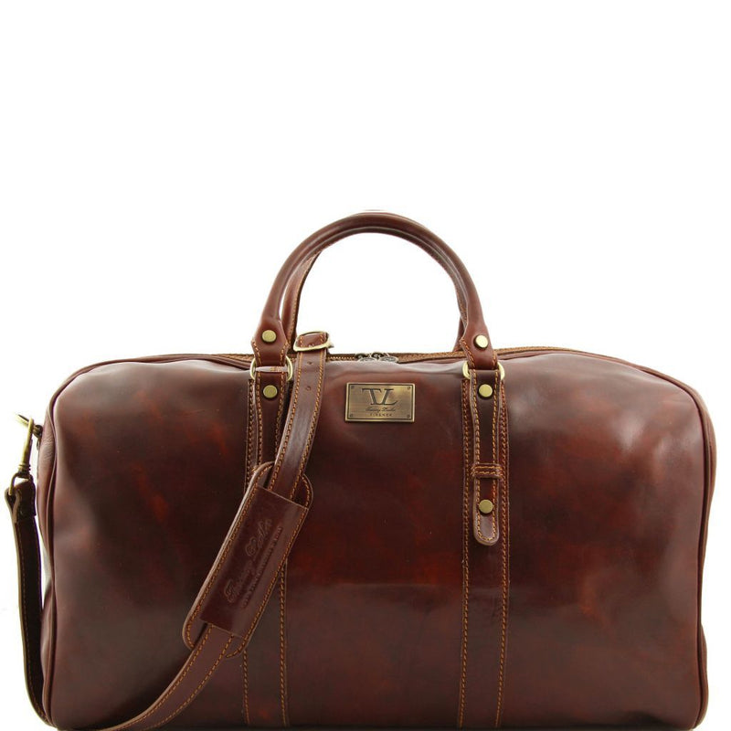 Francoforte - Exclusive Leather Weekender Travel Bag - Large size FC140860 Luggage Tuscany Leather