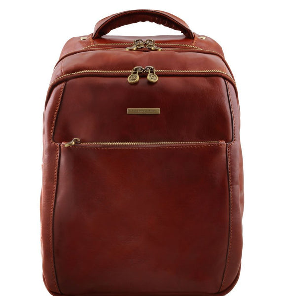 Phuket - 3 Compartments leather laptop backpack TL141402 Tuscany Leather - getanybag.com