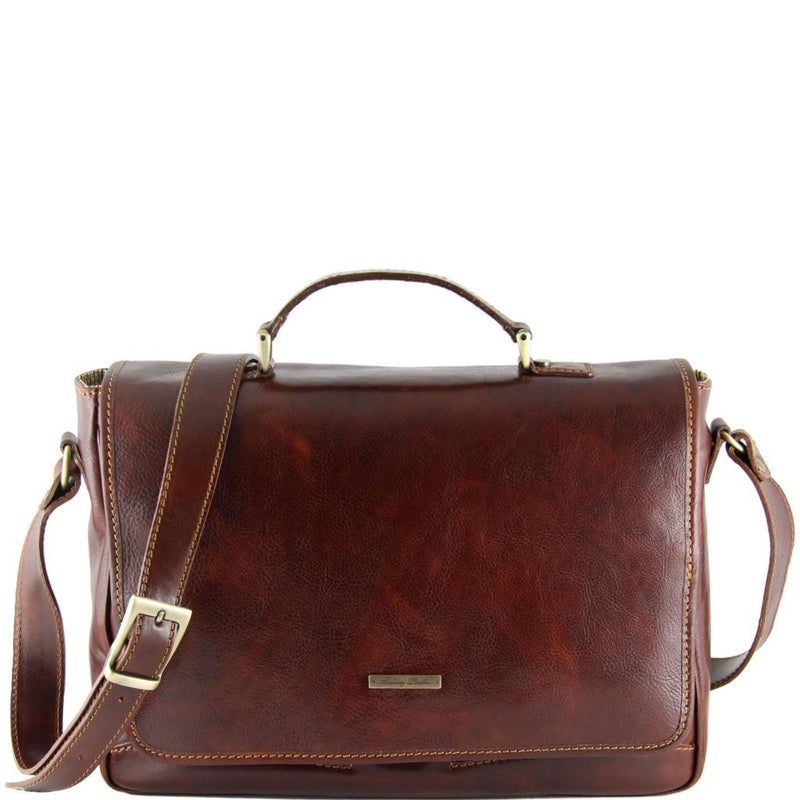 Padova - Exclusive leather laptop case TL140891 - getanybag.com