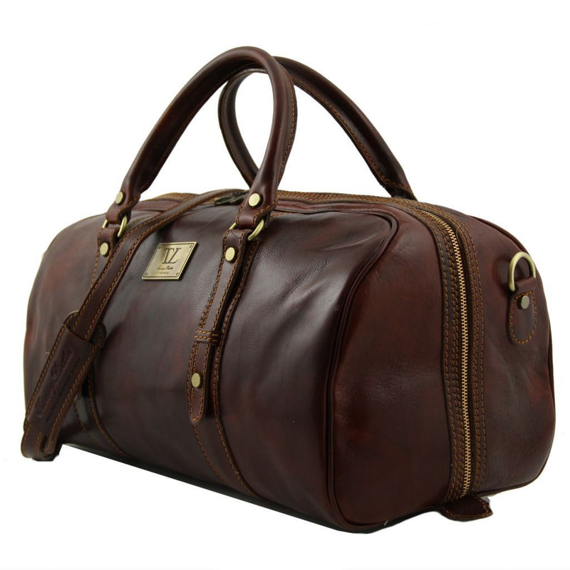 Francoforte - Exclusive Leather Weekender Travel Bag - Small size TL140935 Luggage Tuscany Leather