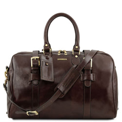 TL Voyager - Leather travel bag with front straps - Small size TL141249 - getanybag.com