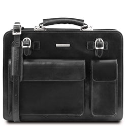 Venezia - Leather briefcase 2 compartments TL141268 Business Tuscany Leather