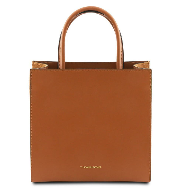 Medea - Leather vertical tote TL141906 Women Bags Tuscany Leather