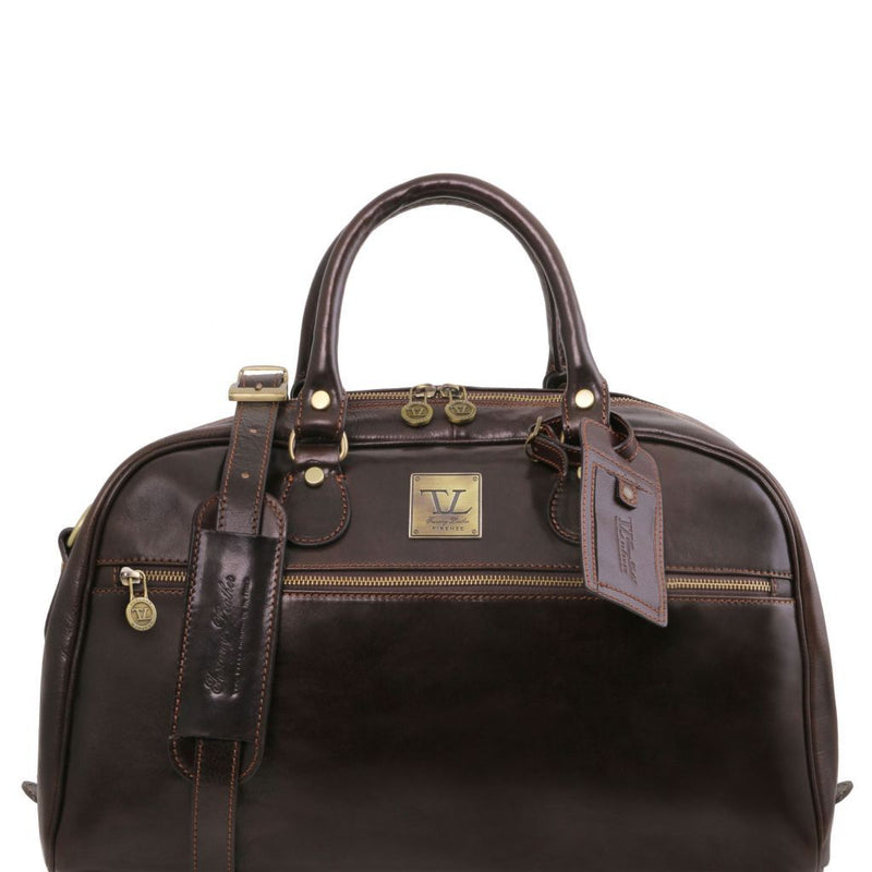 TL Voyager - Travel leather bag- Small size TL141405 Luggage Tuscany Leather