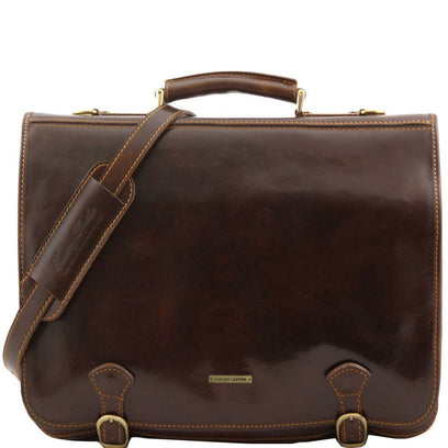 Ancona - Leather messenger bag - Large size TL10025 Tuscany Leather - getanybag.com