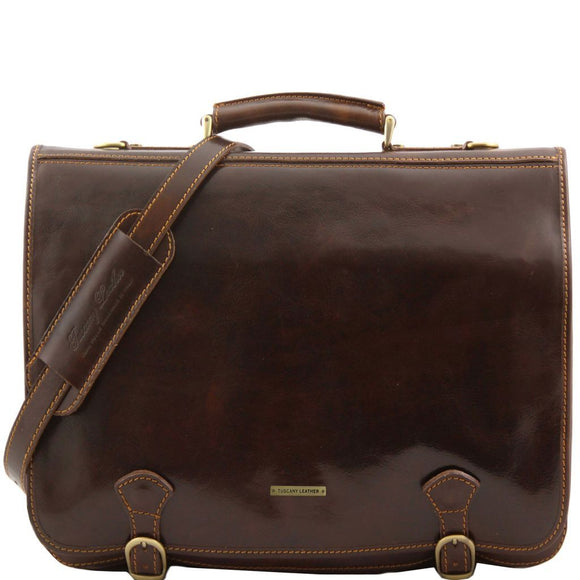 Ancona - Leather messenger bag - Large size TL10025 Business Tuscany Leather