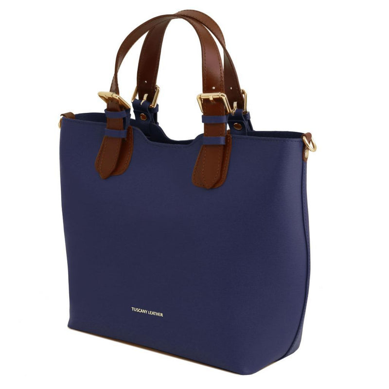 TL Bag - Saffiano leather tote TL141696 Women Bags Tuscany Leather